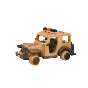 carro policia madera
